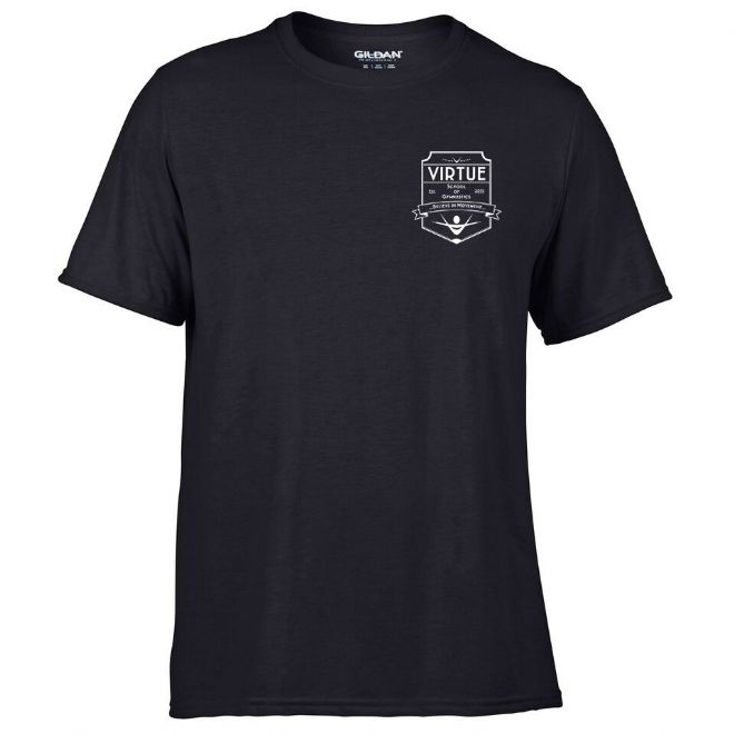 Black Short sleeved Performance t-shirt